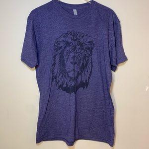 American Apparel   Purple Lion Tshirt   Large